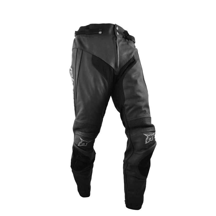 Kožené moto nohavice Rebelhorn STROKE 3XL