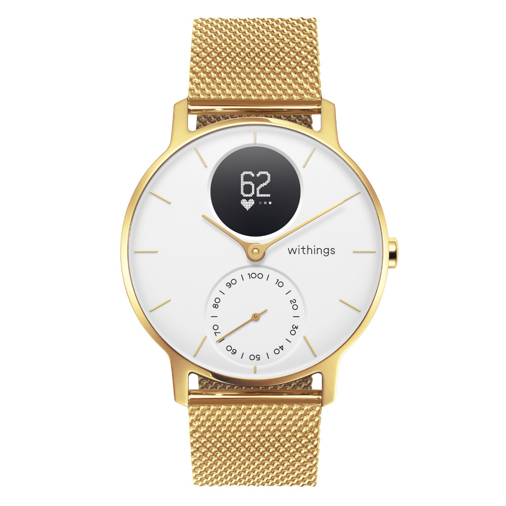 Inteligentné hodinky Withings Steel HR (36 mm) Champagne Gold/White