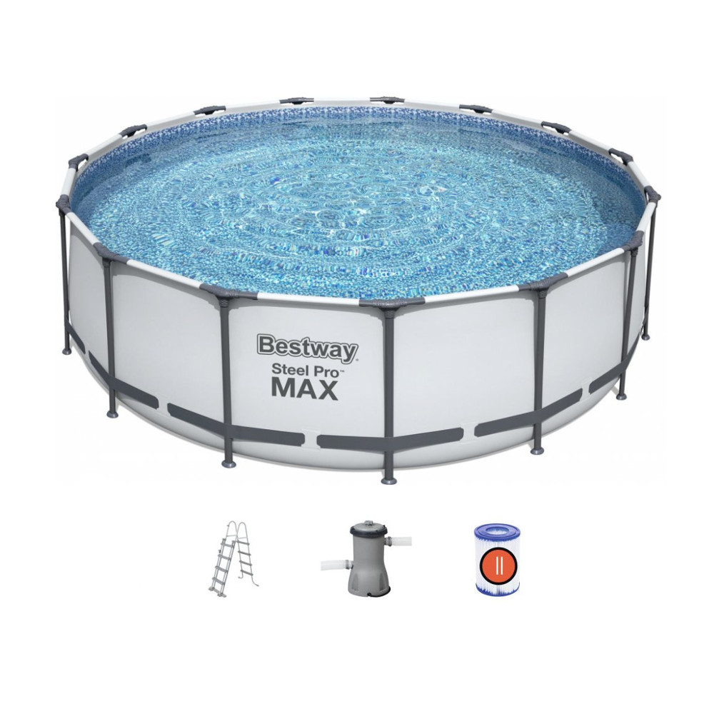 Bazén Bestway Steel Pro Max 488 x 122 cm s filtráciou