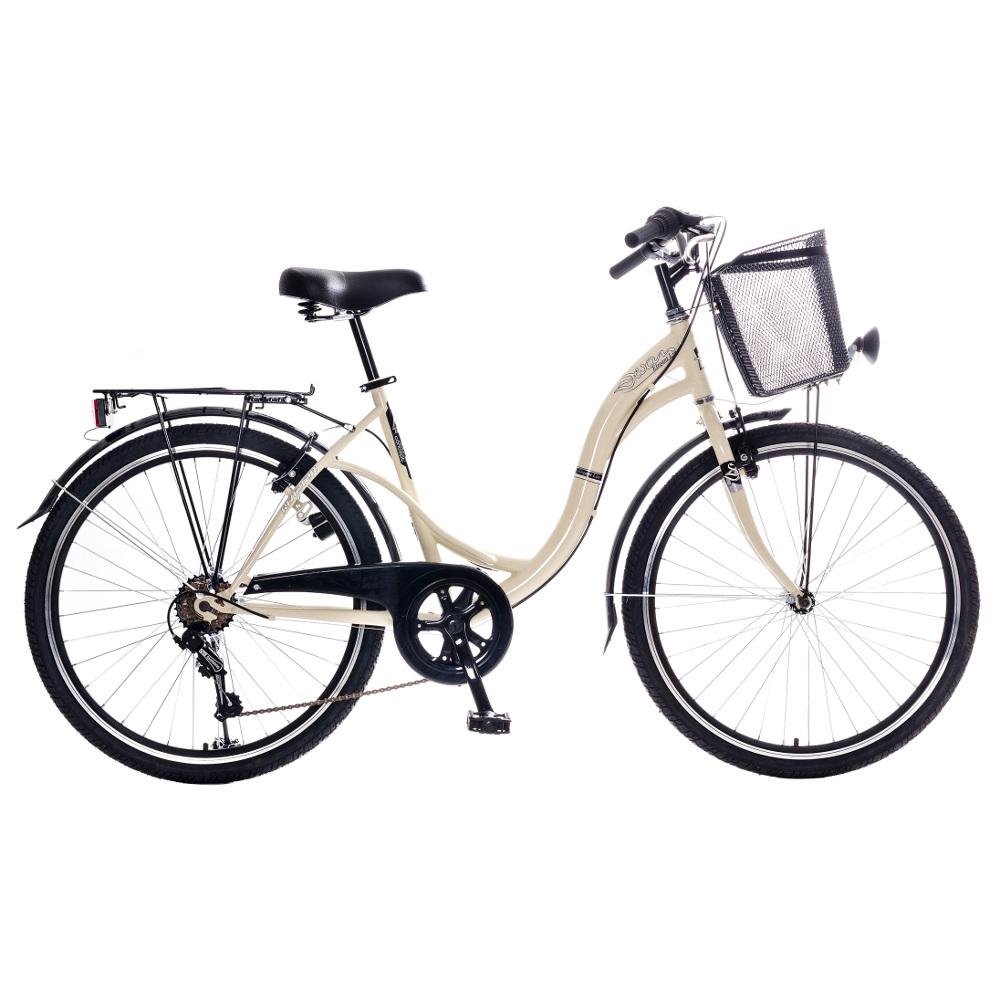 """Mestský bicykel Reactor Swan 26"""" - model 2018 krémová"""