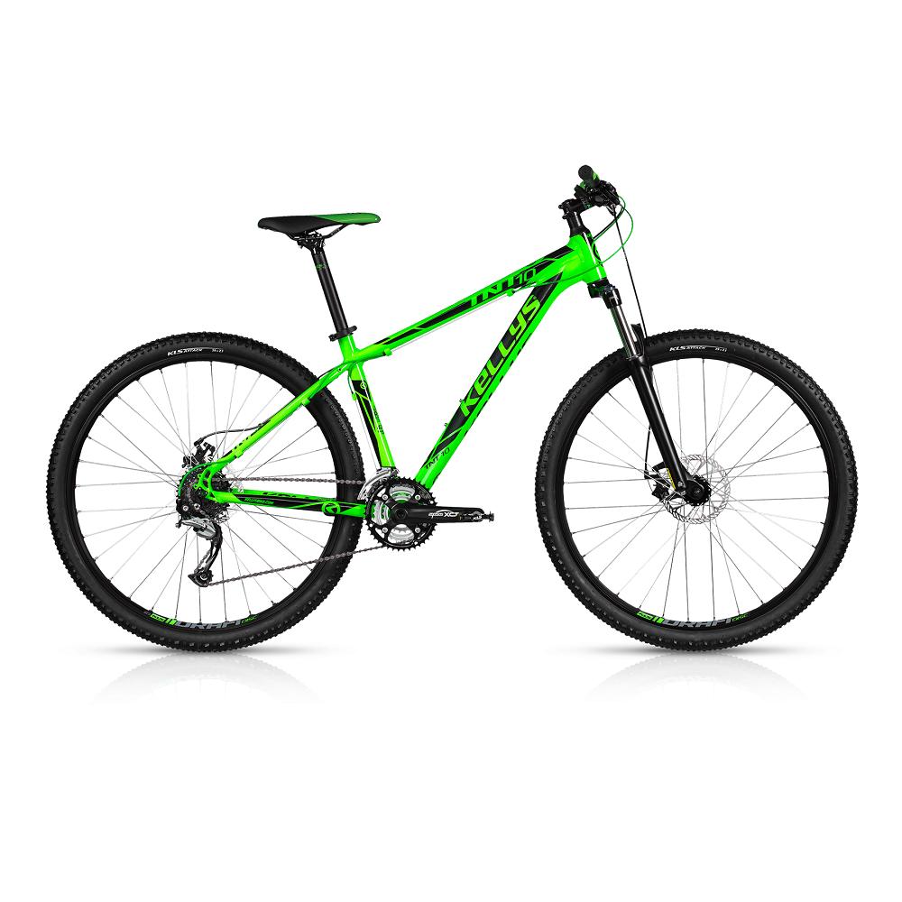 "Horský bicykel KELLYS TNT 10 29"" - model 2017 Toxic Green - 430 mm (17"") - Záruka 10 rokov"