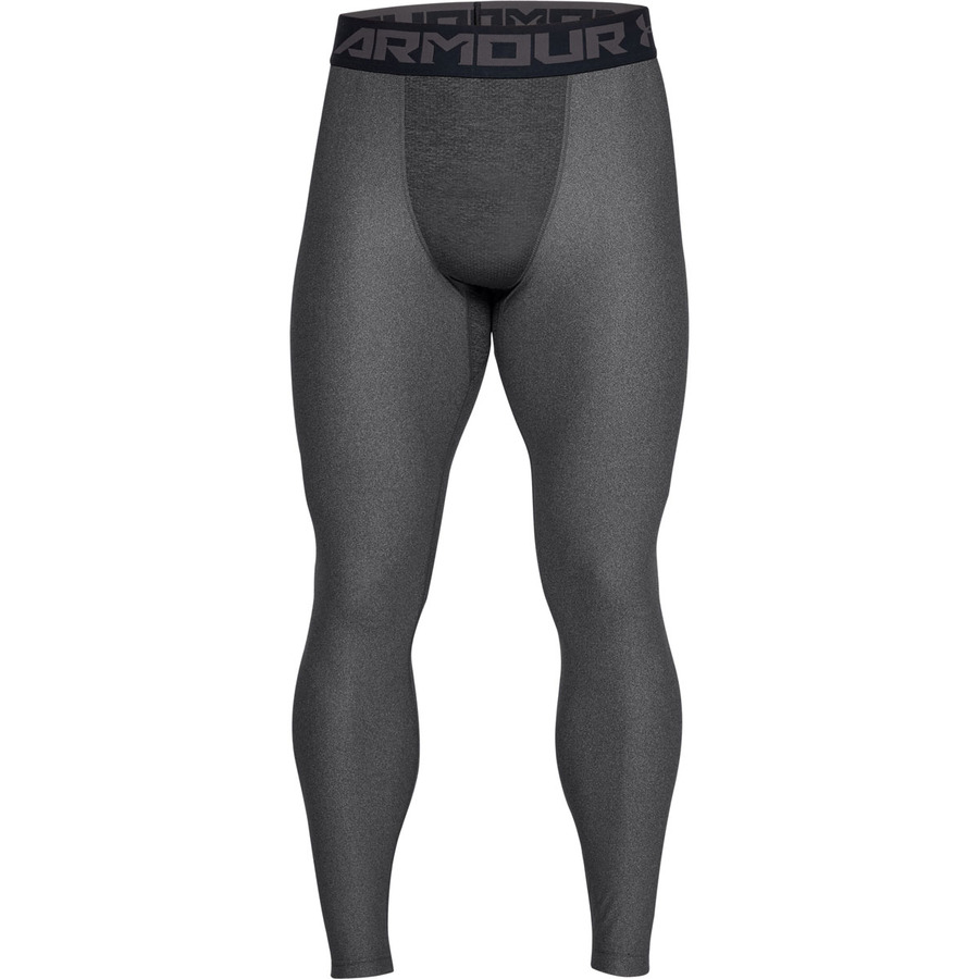 Pánske kompresné legíny Under Armour HG Armour 2.0 Legging Carbon Heather - XS