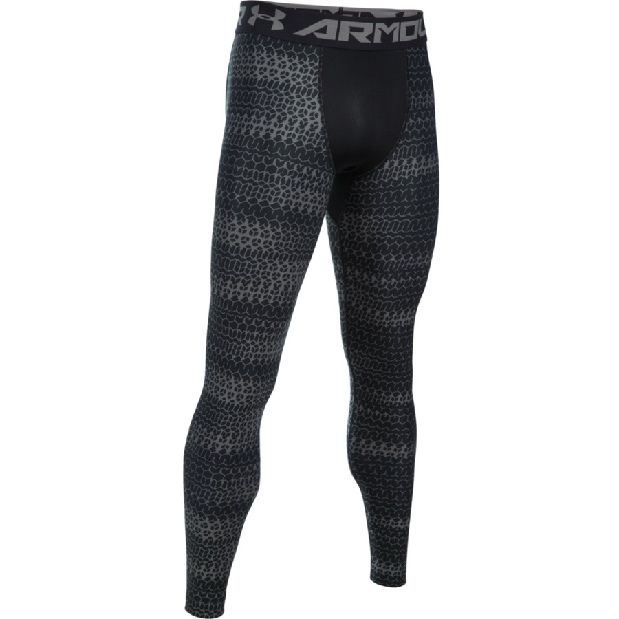 Pánske kompresné legíny Under Armour HG Armour 2.0 Novelty Legging BLACK / GRAPHITE - XS
