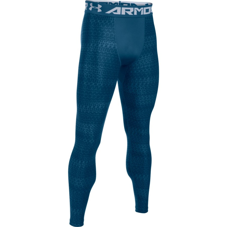 Pánske kompresné legíny Under Armour HG Armour 2.0 Novelty Legging blue - XS