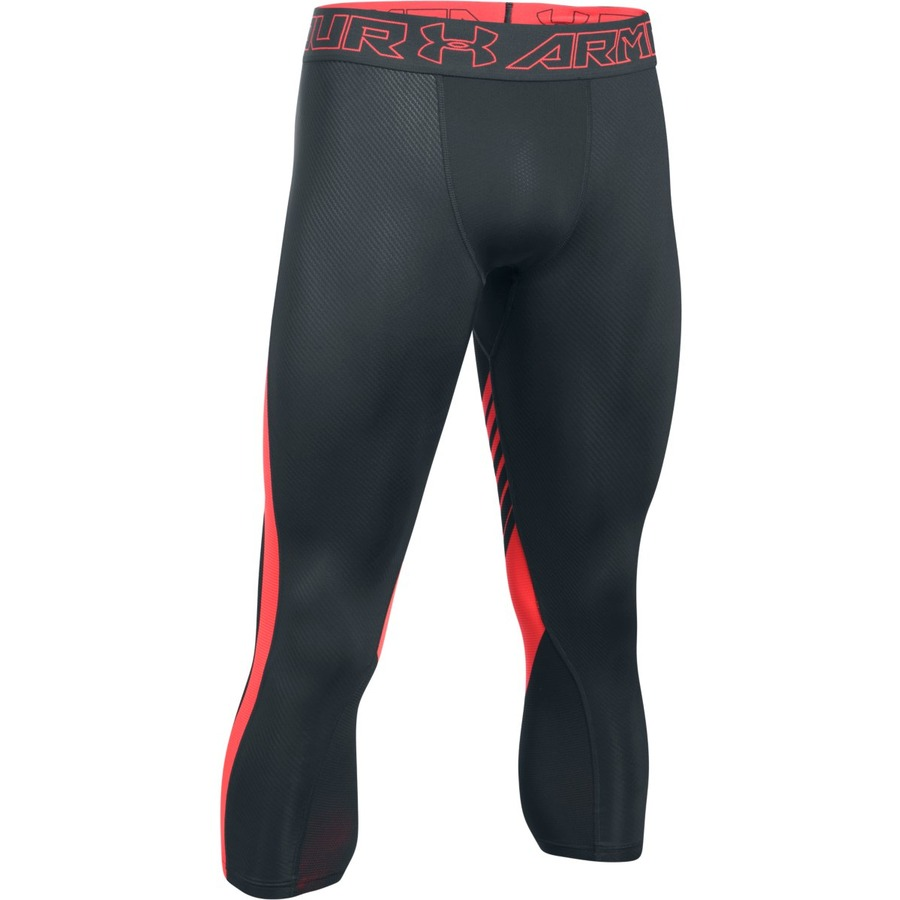 Pánske kompresné legíny Under Armour HG SuperVent 2.0 3/4 Legging ANTHRACITE / MARATHON RED / MARATHON RED - XL