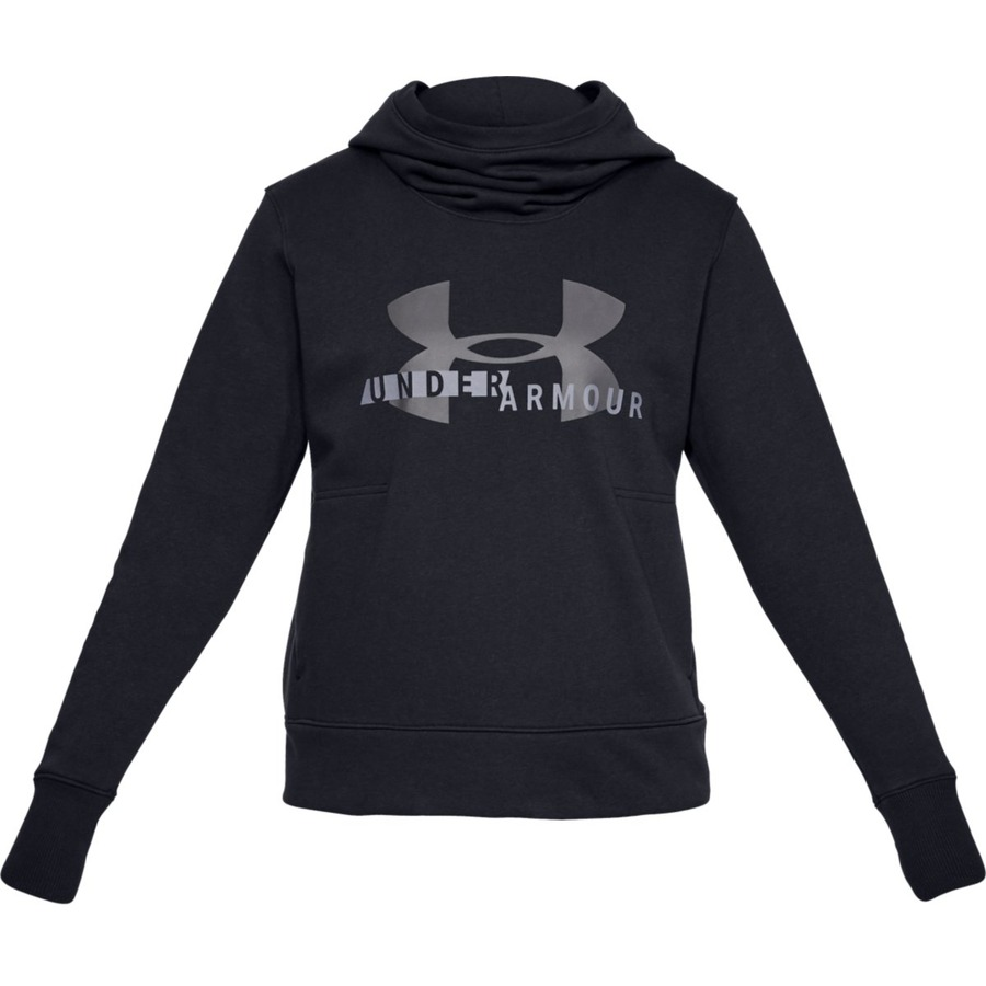 Dámska mikina Under Armour Cotton Fleece Sportstyle Logo Hoodie Black - XS