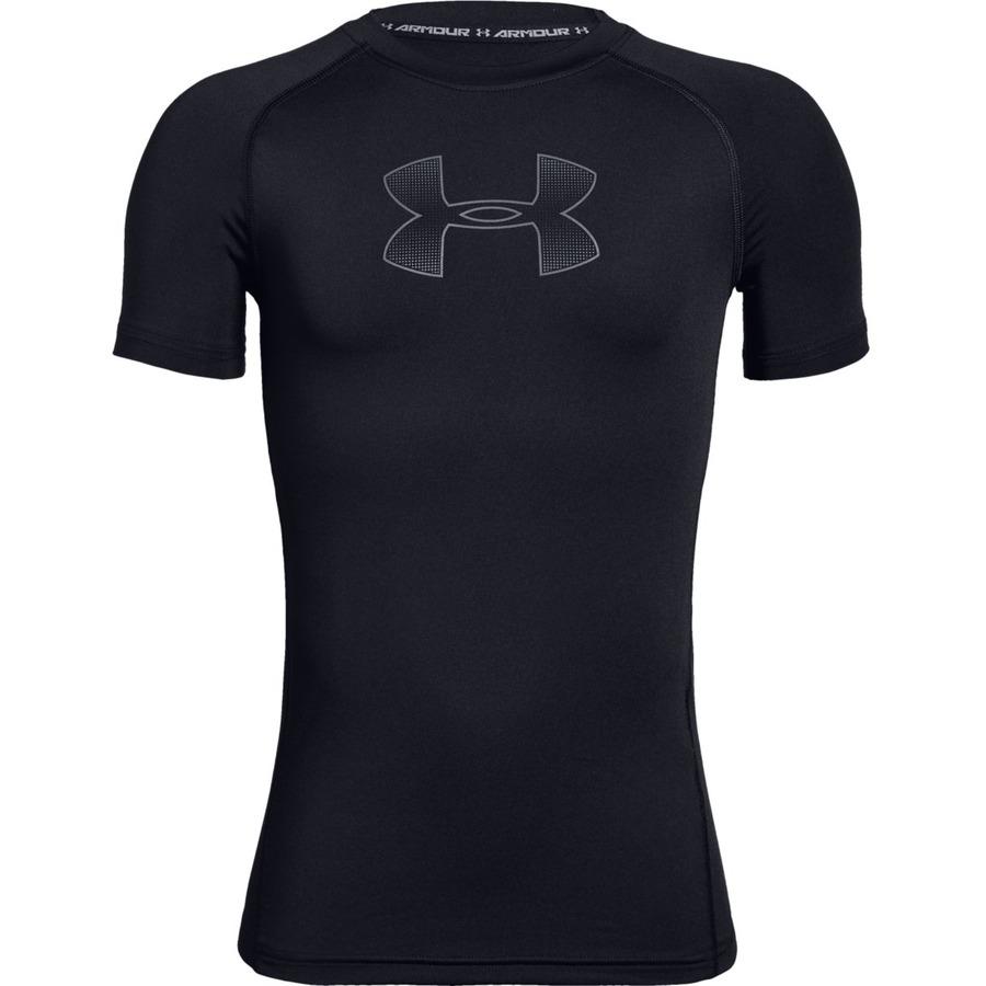 Chlapčenské tričko Under Armour Armour HeatGear Short Sleeve Black - YL