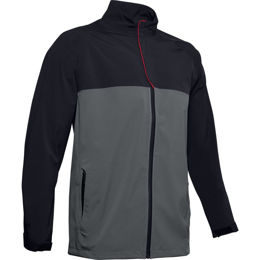 Pánska nepremokavá bunda Under Armour Stormproof Golf Rain Jacket Black - S