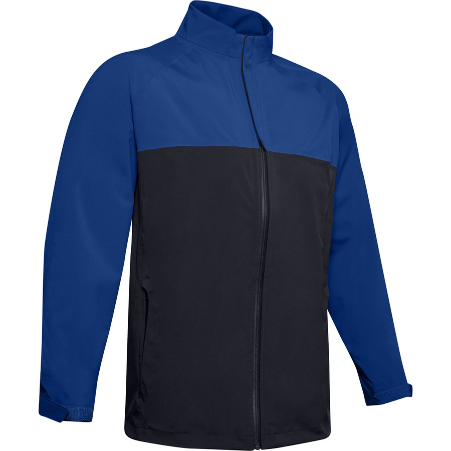 Pánska nepremokavá bunda Under Armour Stormproof Golf Rain Jacket Royal - M