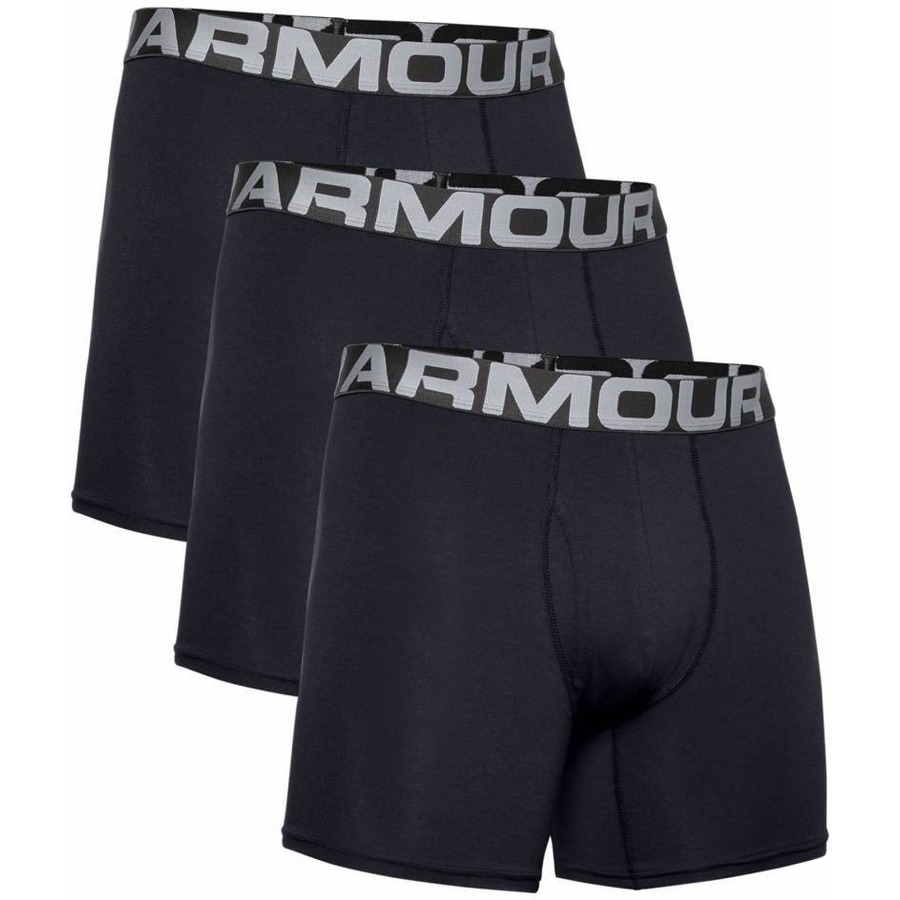 Boxerky Under Armour Charged Cotton 6in 3 páry Black - S