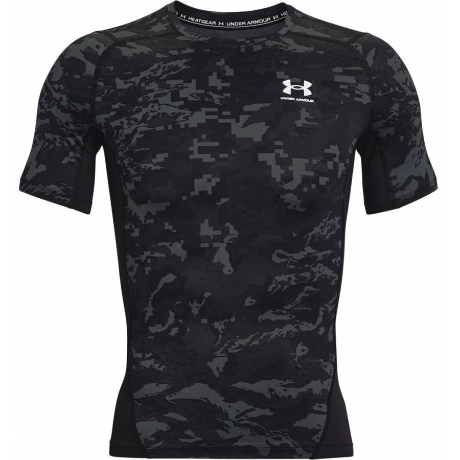 Pánske kompresné tričko Under Armour HG Armour Camo Comp SS