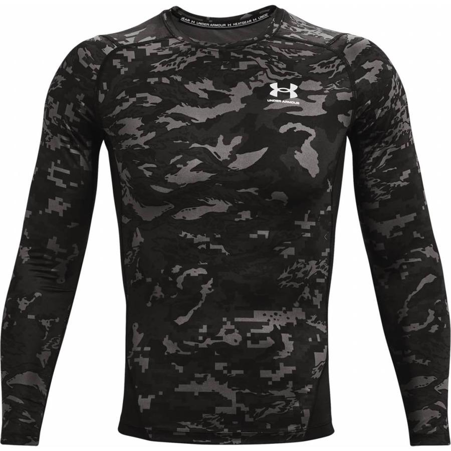 Pánske kompresné tričko Under Armour HG Armour Camo Comp LS