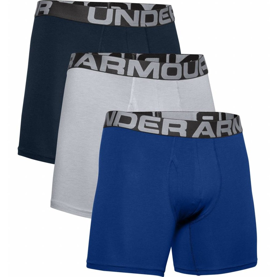 Boxerky Under Armour Charged Cotton 6in 3 páry Royal - M