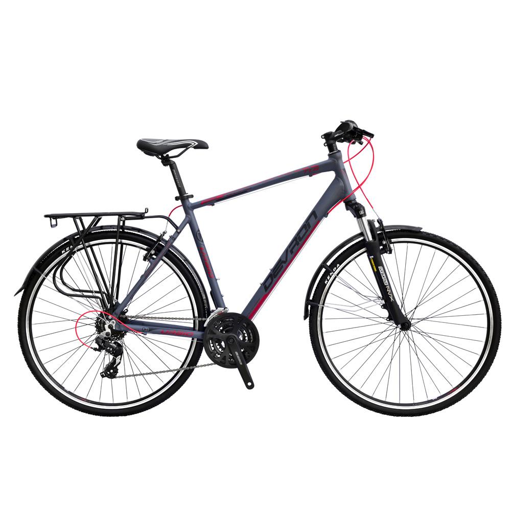"""Trekingový bicykel Devron Urbio T1.8 - model 2015 Fast Grey - 23,5"""" - Záruka 10 rokov"""