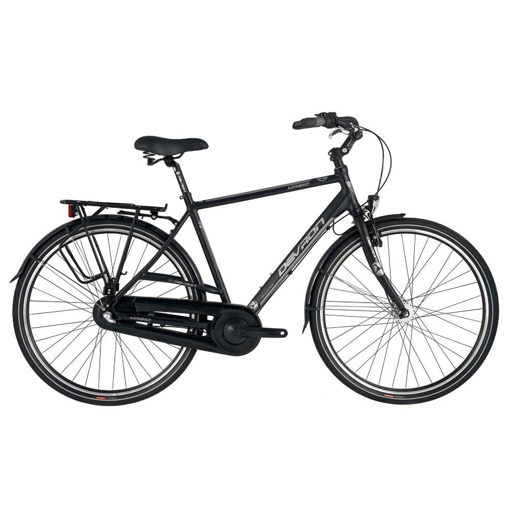 "Mestský bicykel Devron Urbio C1.8 - model 2016 Magic Black - 23"" - Záruka 10 rokov"