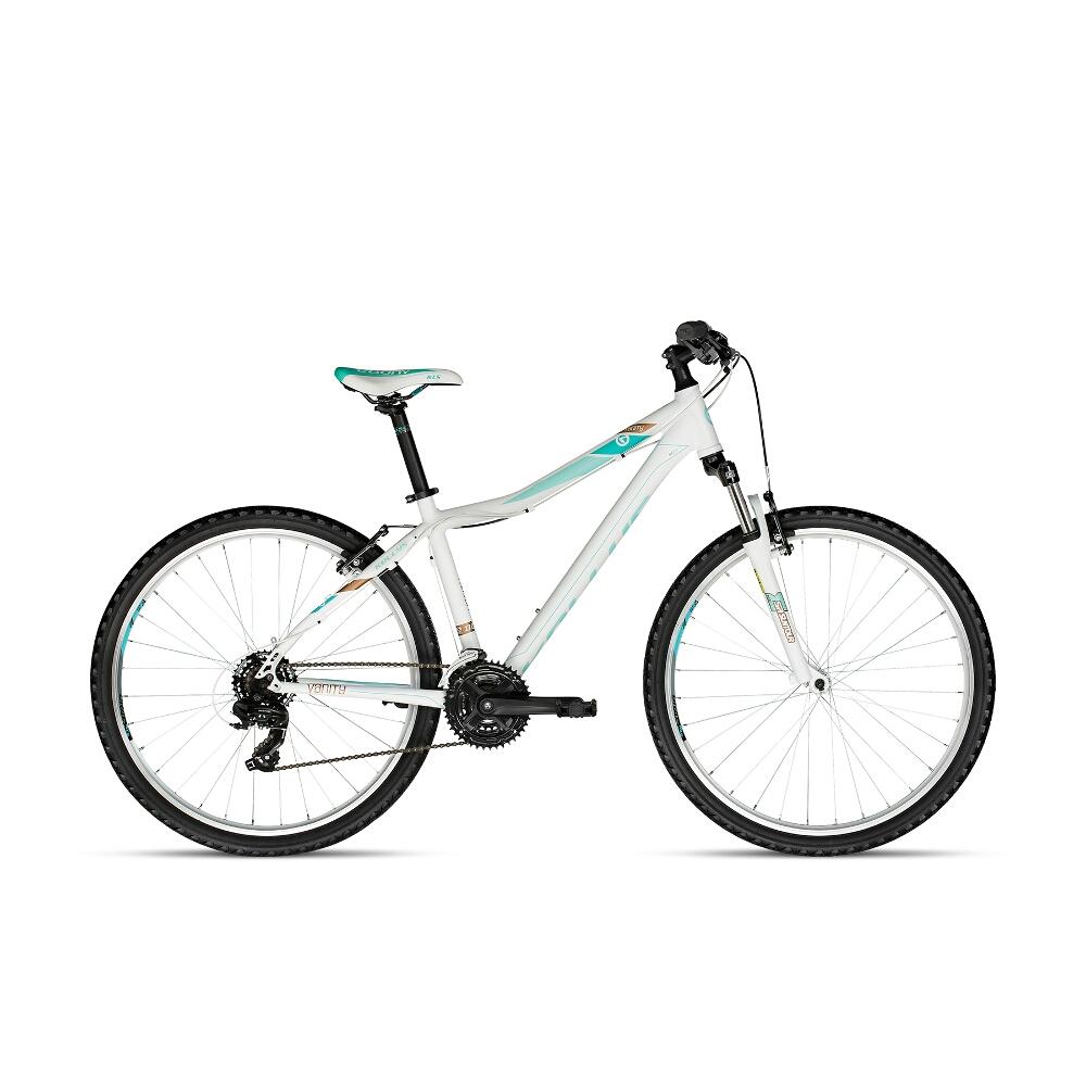 "Dámsky horský bicykel KELLYS VANITY 10 27,5"" - model 2018 White - 19"" - Záruka 10 rokov"