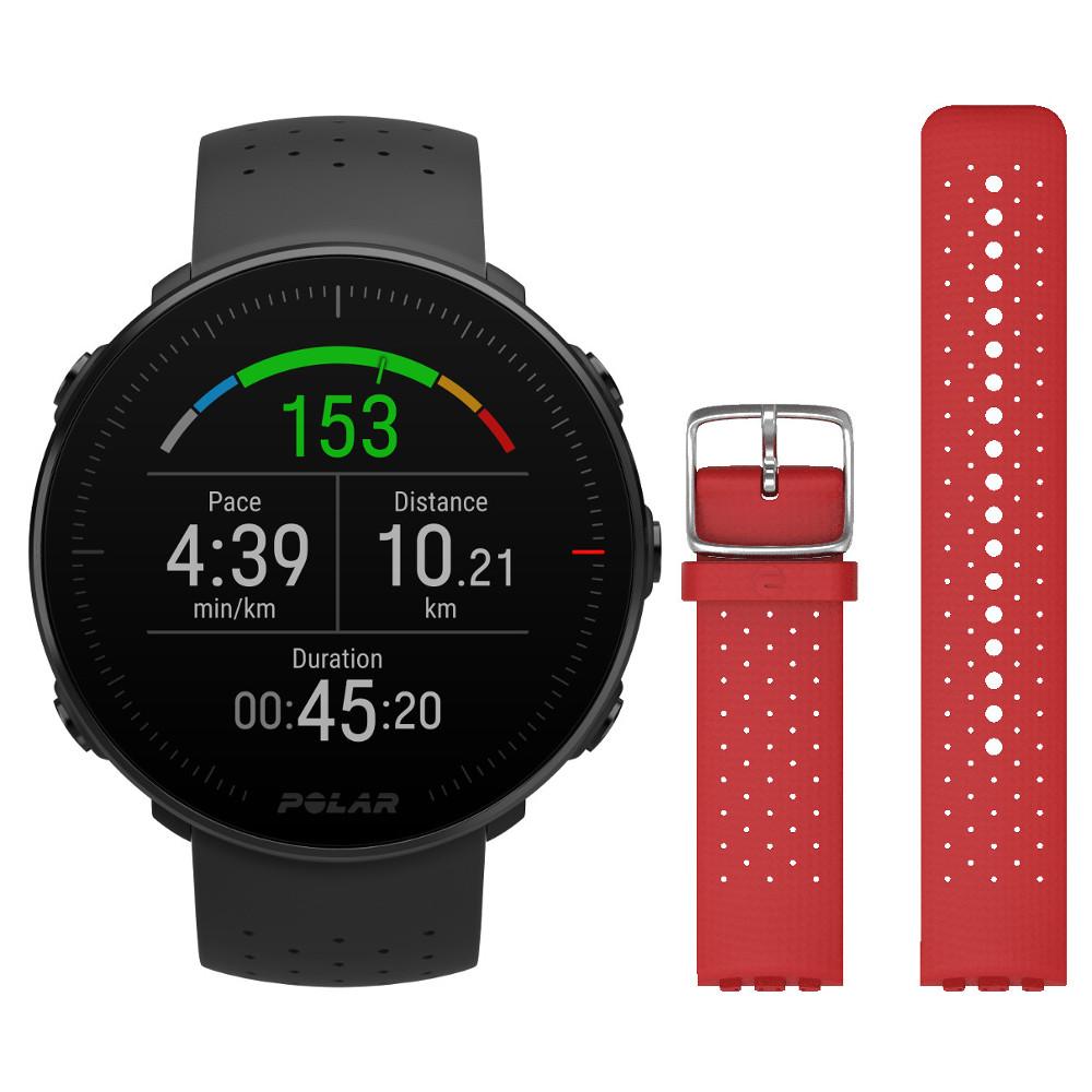 Športové hodinky POLAR Vantage M čierna + červený remienok