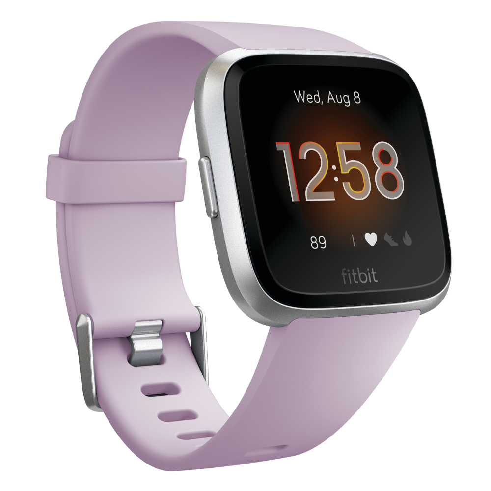 Inteligentné hodinky Fitbit Versa Lite Lilac/Silver Aluminum