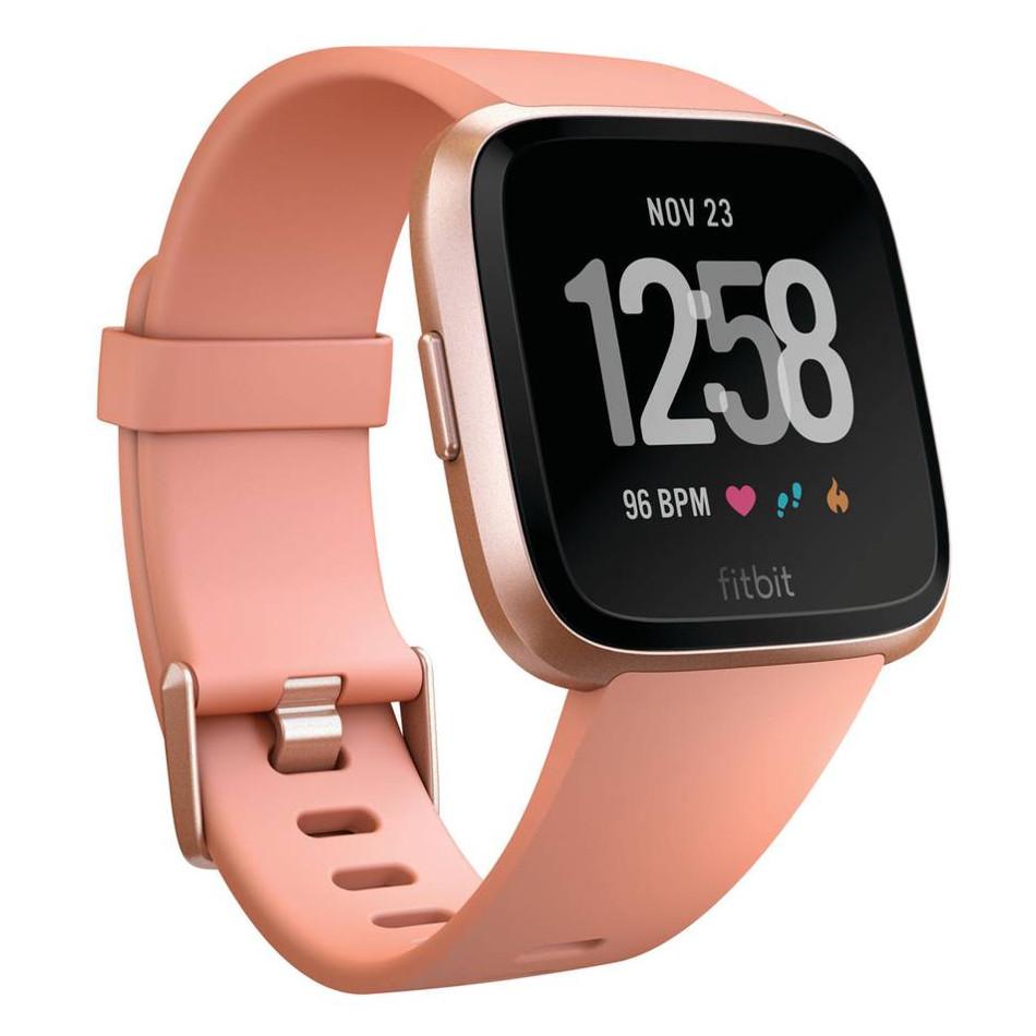 Inteligentné hodinky Fitbit Versa Peach/Rose Gold Aluminum