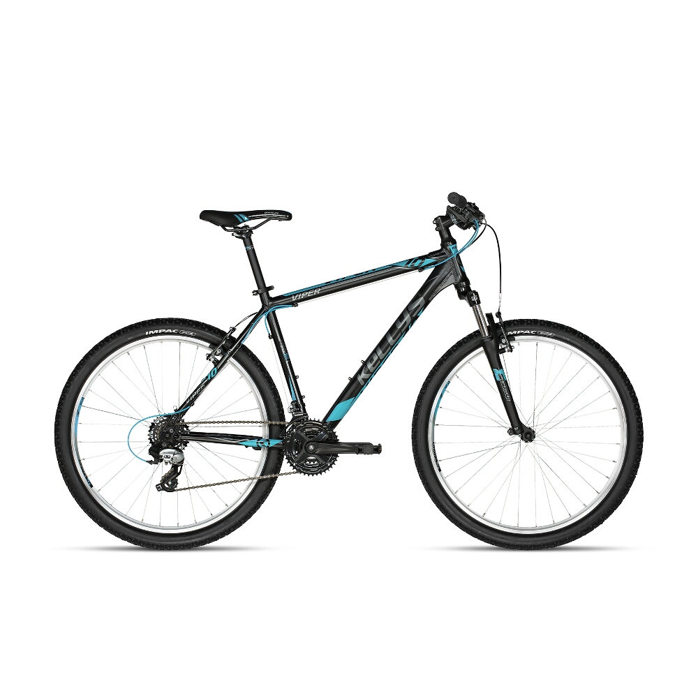 "Horský bicykel KELLYS VIPER 10 27,5"" - model 2018 Black Blue - 545 mm (21,5"") - Záruka 10 rokov"