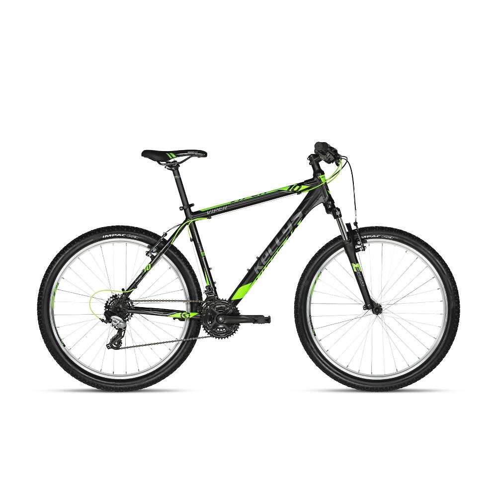"Horský bicykel KELLYS VIPER 10 27,5"" - model 2018 Black Lime - 495 mm (19,5"") - Záruka 10 rokov"