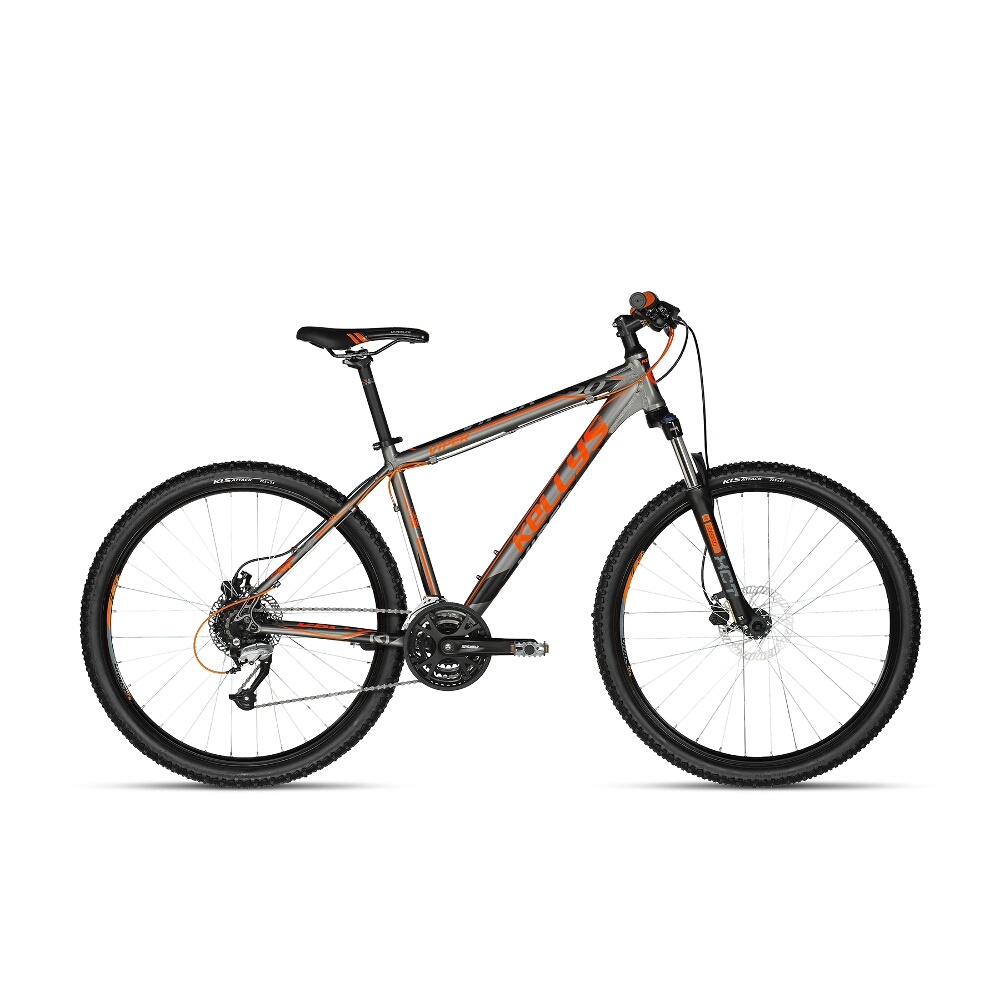 "Horský bicykel KELLYS VIPER 50 27,5"" - model 2018 Black-Orange Neon - 17,5"" - Záruka 10 rokov"
