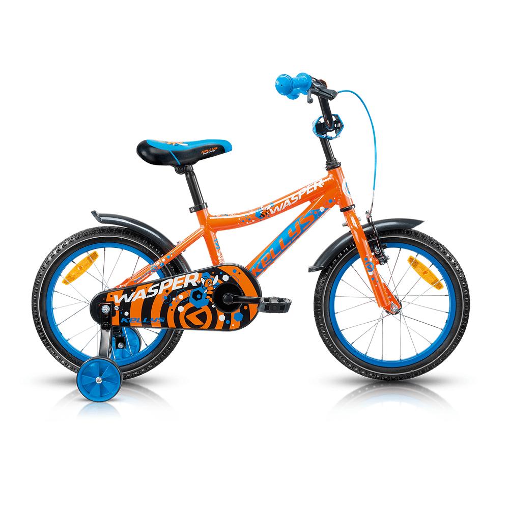 """Detský bicykel KELLYS WASPER 16"""" - model 2017 Orange - 245 mm (9,5"""") - Záruka 5 rokov"""