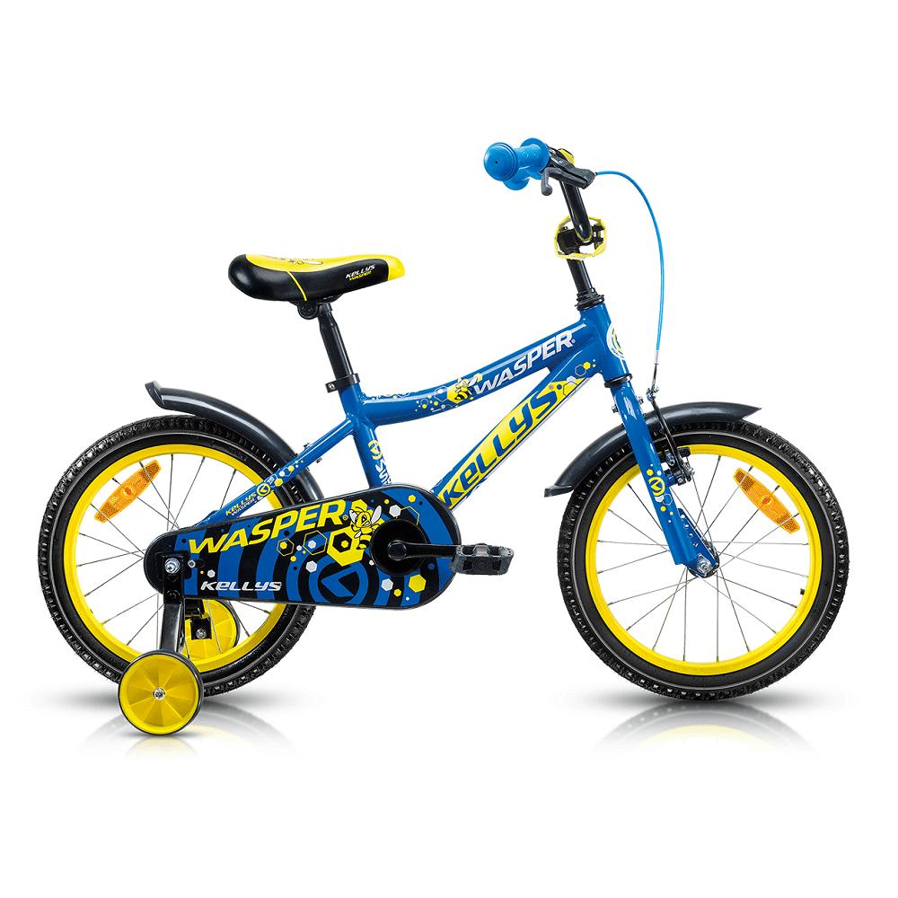 "Detský bicykel KELLYS WASPER 16"" - model 2017 blue - 245 mm (9,5"") - Záruka 5 rokov"