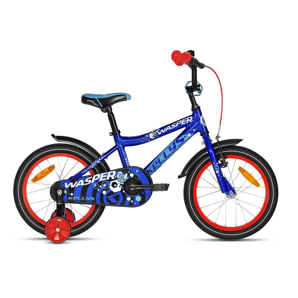 "Detský bicykel KELLYS WASPER 16"" - model 2018 blue - Záruka 10 rokov"