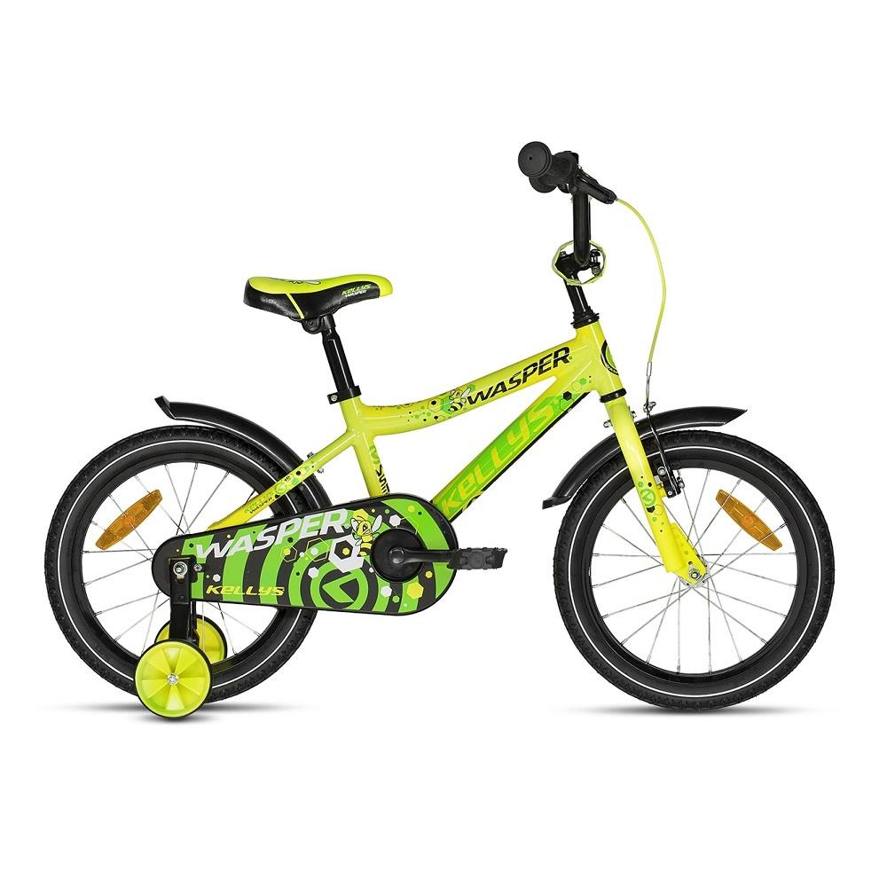 "Detský bicykel KELLYS WASPER 16"" - model 2018 Yellow - Záruka 10 rokov"