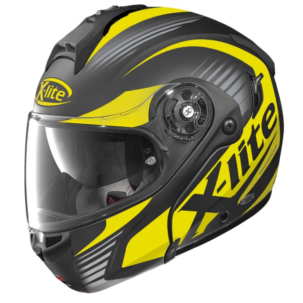 Moto prilba X-Lite X-1004 Nordhelle N-Com Flat Black-Yellow
