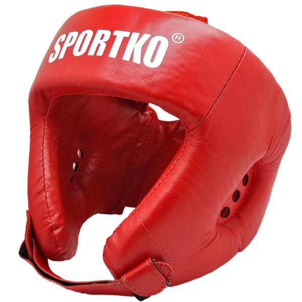 Boxerský chránič hlavy SportKO OK2 červená - M