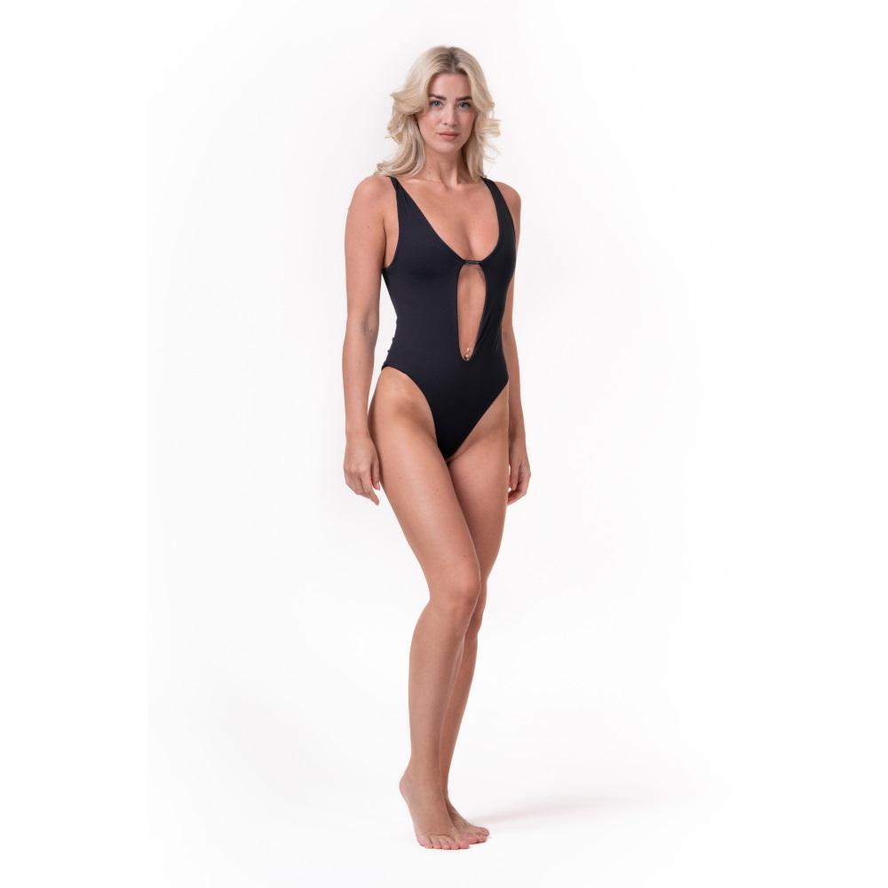 Dámske jednodílne plavky Nebbia High Energy Monokini 560 Black - S