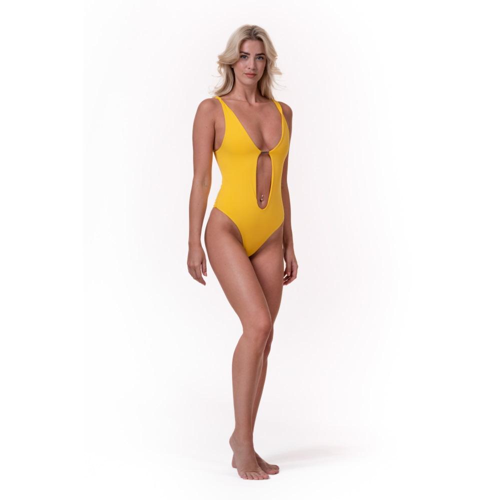 Dámske jednodílne plavky Nebbia High Energy Monokini 560 Yellow - S