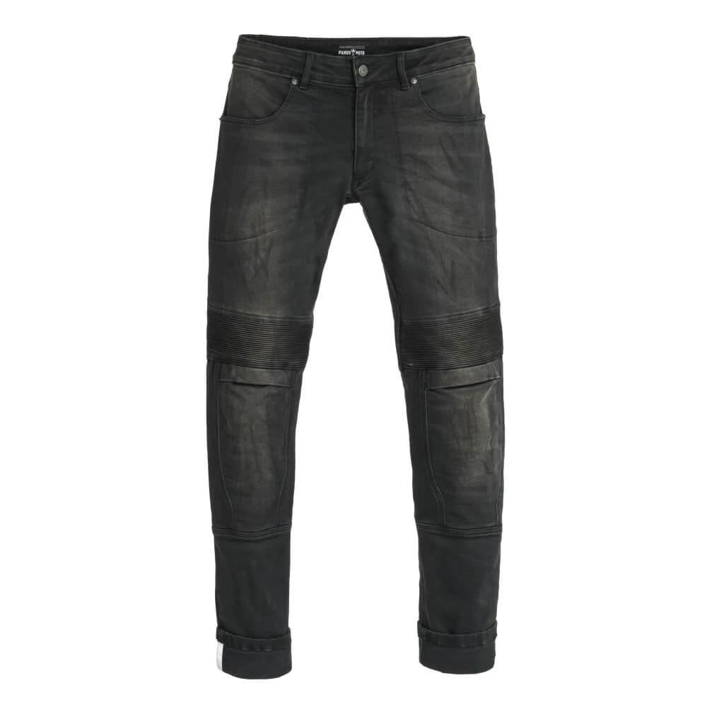 Pánske moto jeansy PANDO MOTO Karl Devil 2 čierna - 36