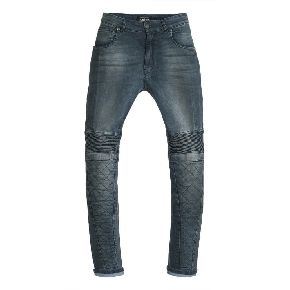 Dámske moto jeansy PANDO MOTO Rosie Navy modrá - 34