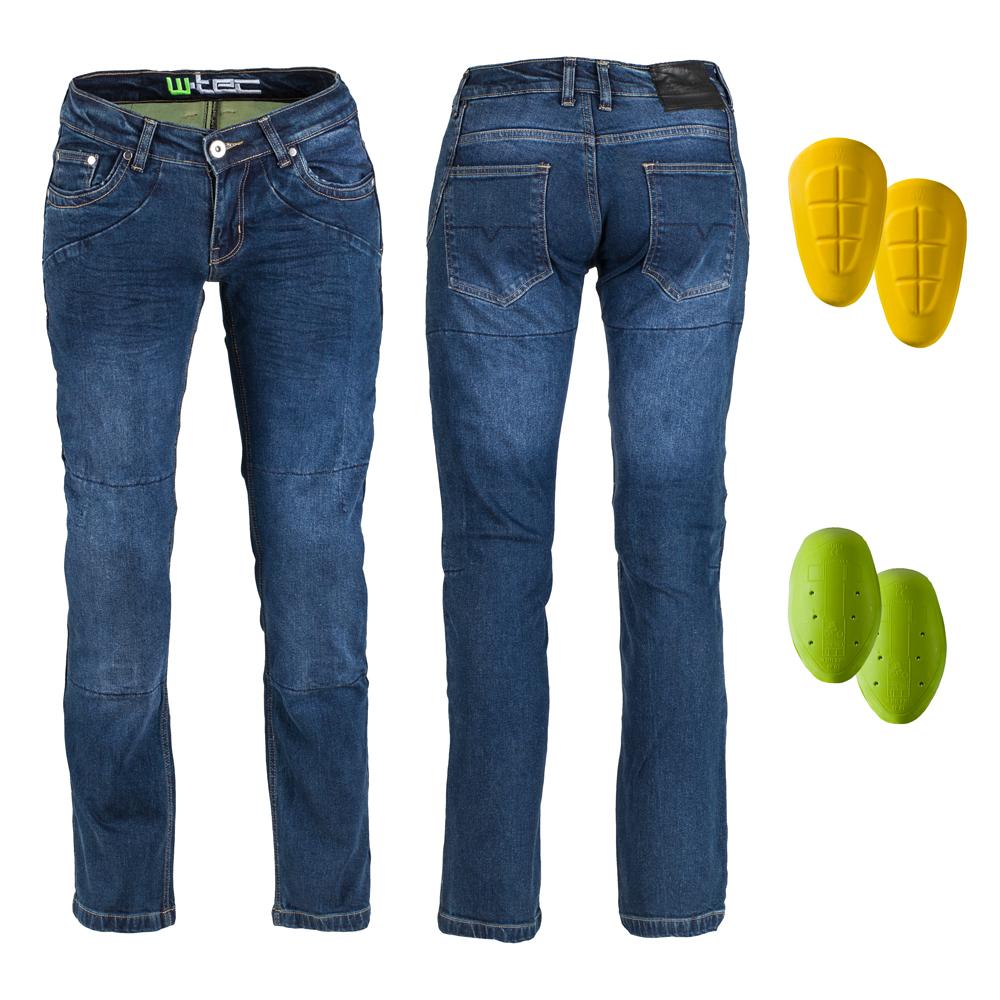 Dámske moto jeansy W-TEC Kavec tmavo modrá - 39