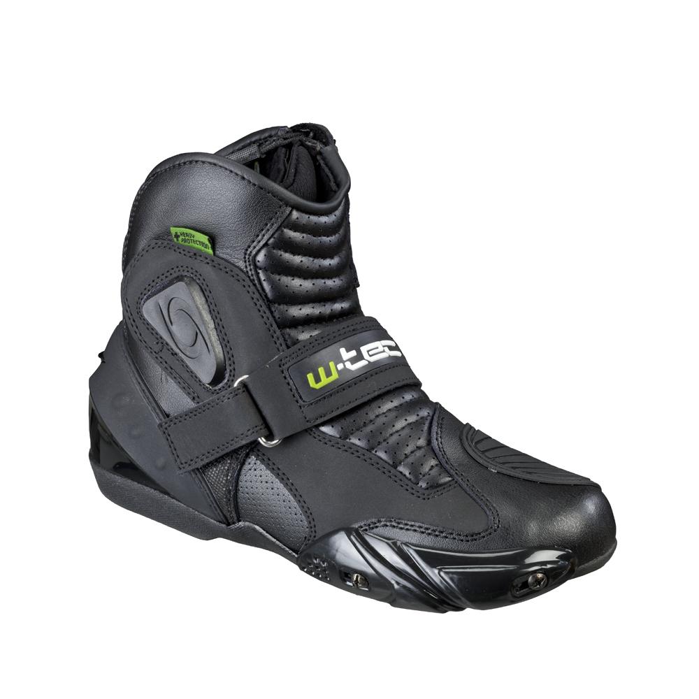 fa35d04784845 Pánske kožené moto topánky W-TEC Tochern NF-6032 - čierna. Kožené topánky  ...