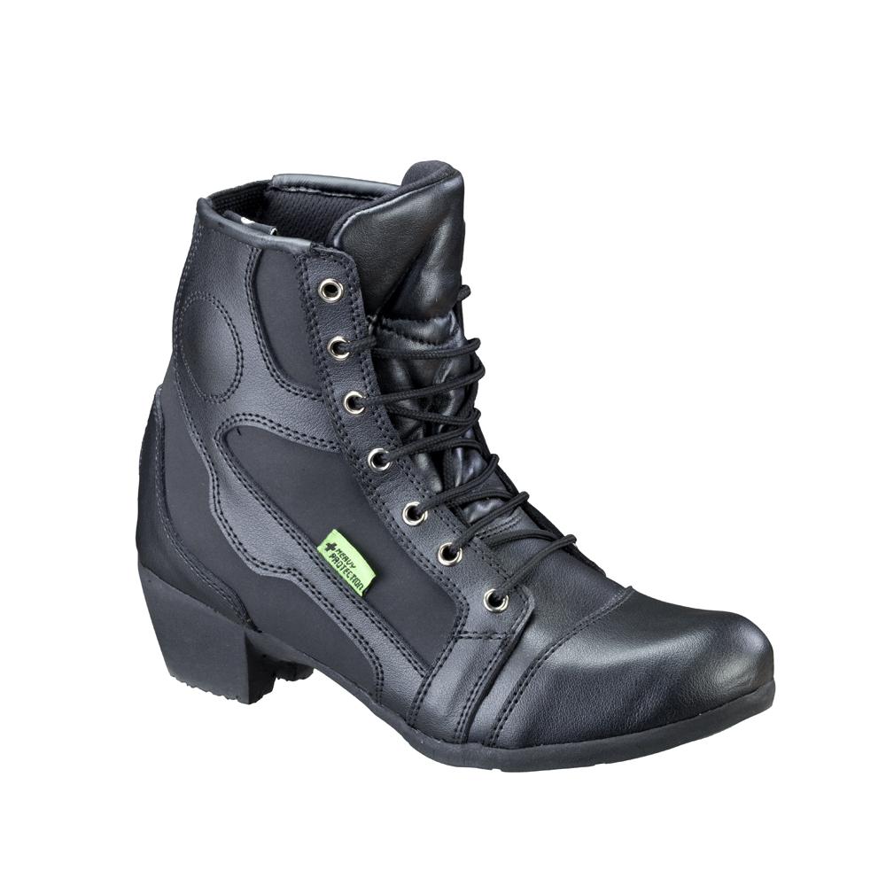 Dámske kožené moto topánky W-TEC Jartalia NF-6092 čierna - 40