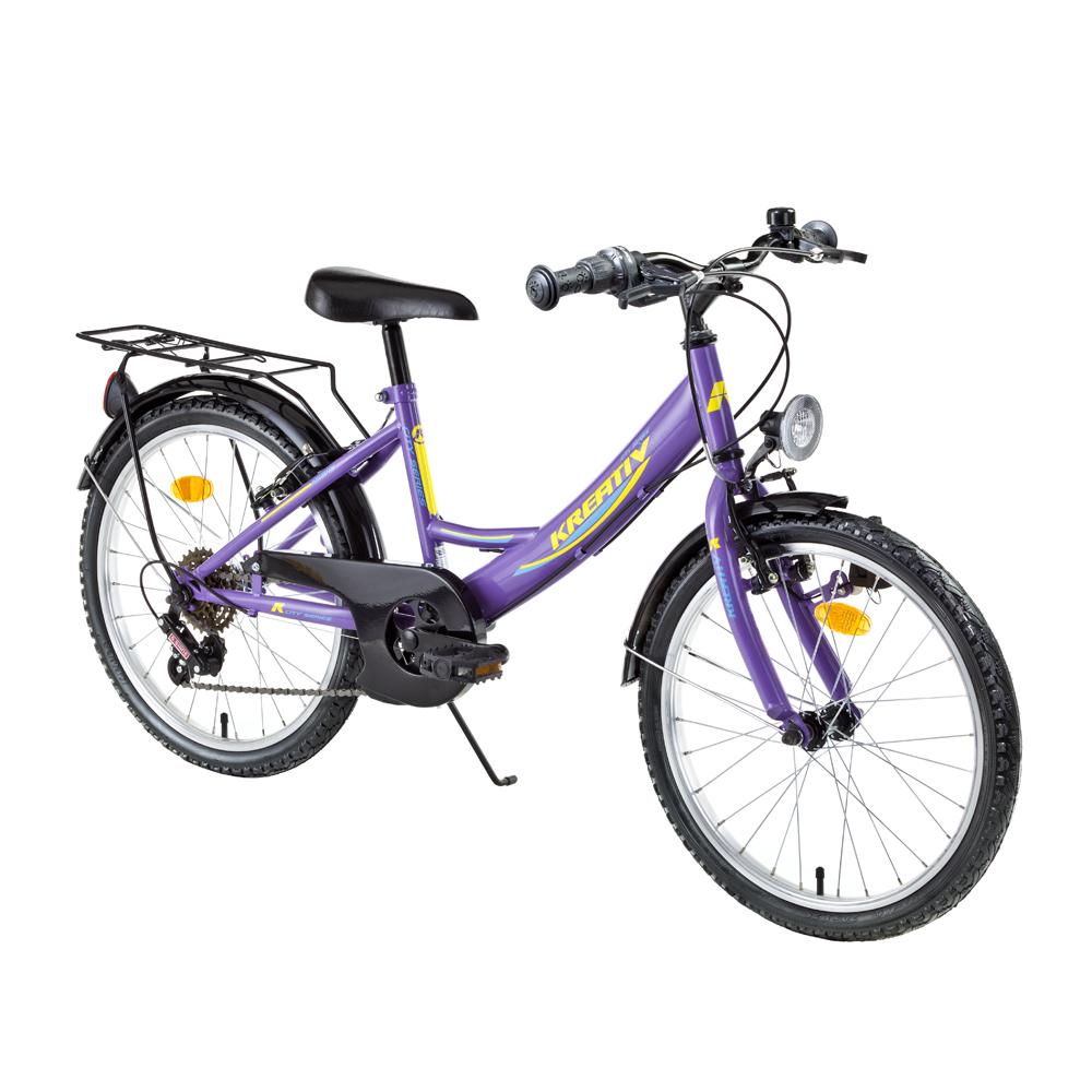 """Juniorský bicykel Kreativ 2414 24"""" - model 2017 Lila - Záruka 10 rokov"""