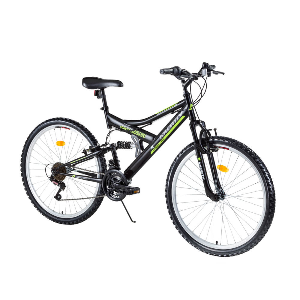 "Celoodpružený bicykel Kreativ 2641 26"" - model 2016 Black - Záruka 10 rokov"