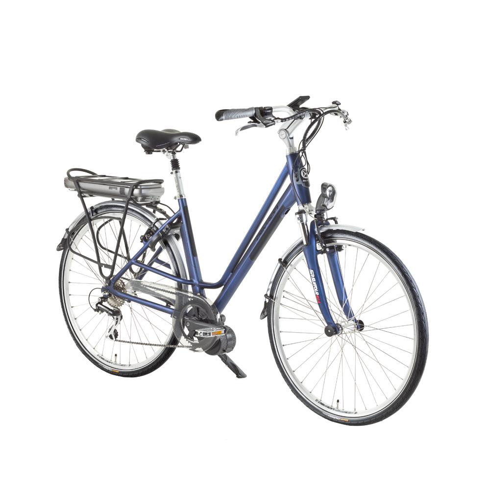 "Mestský elektrobicykel Devron Wellington 28024 - model 2015 modro-čierna - 19,3"" - Záruka 10 rokov"