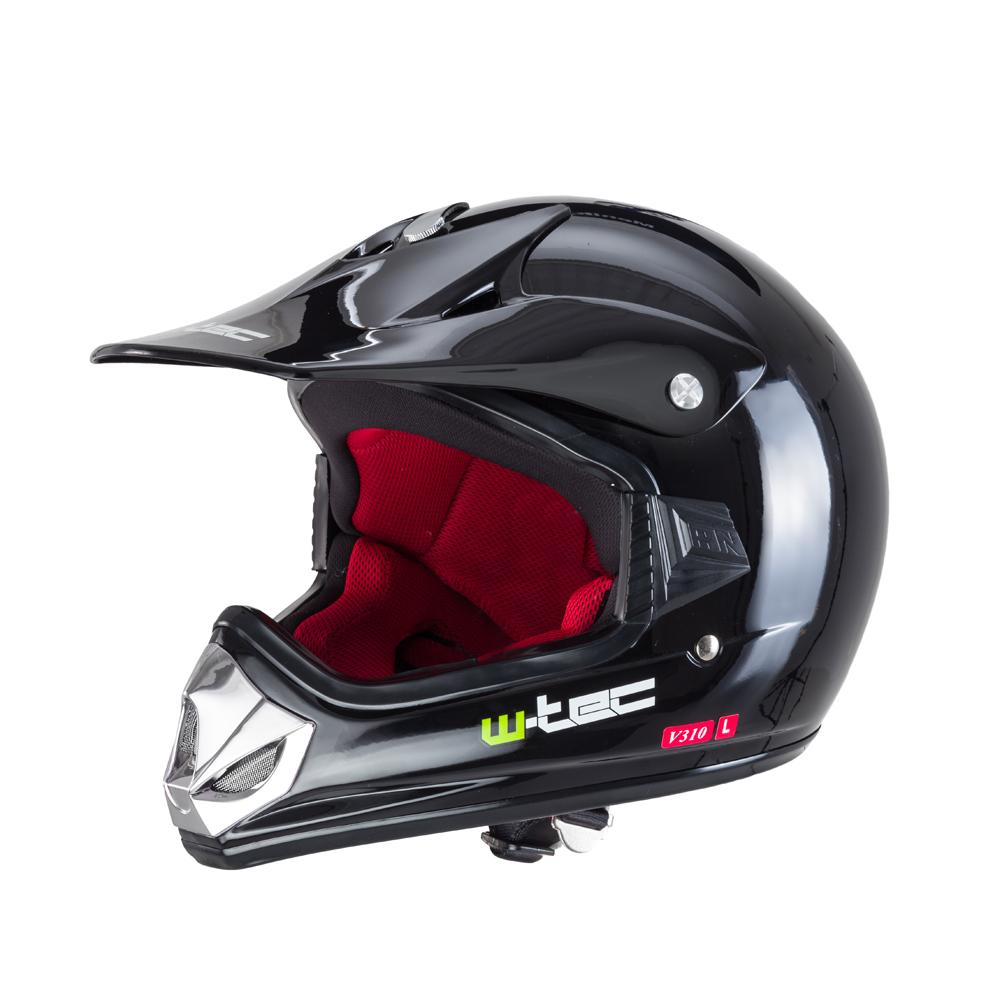 Detská moto prilba W-TEC V310 Pure Black - S (49-50)