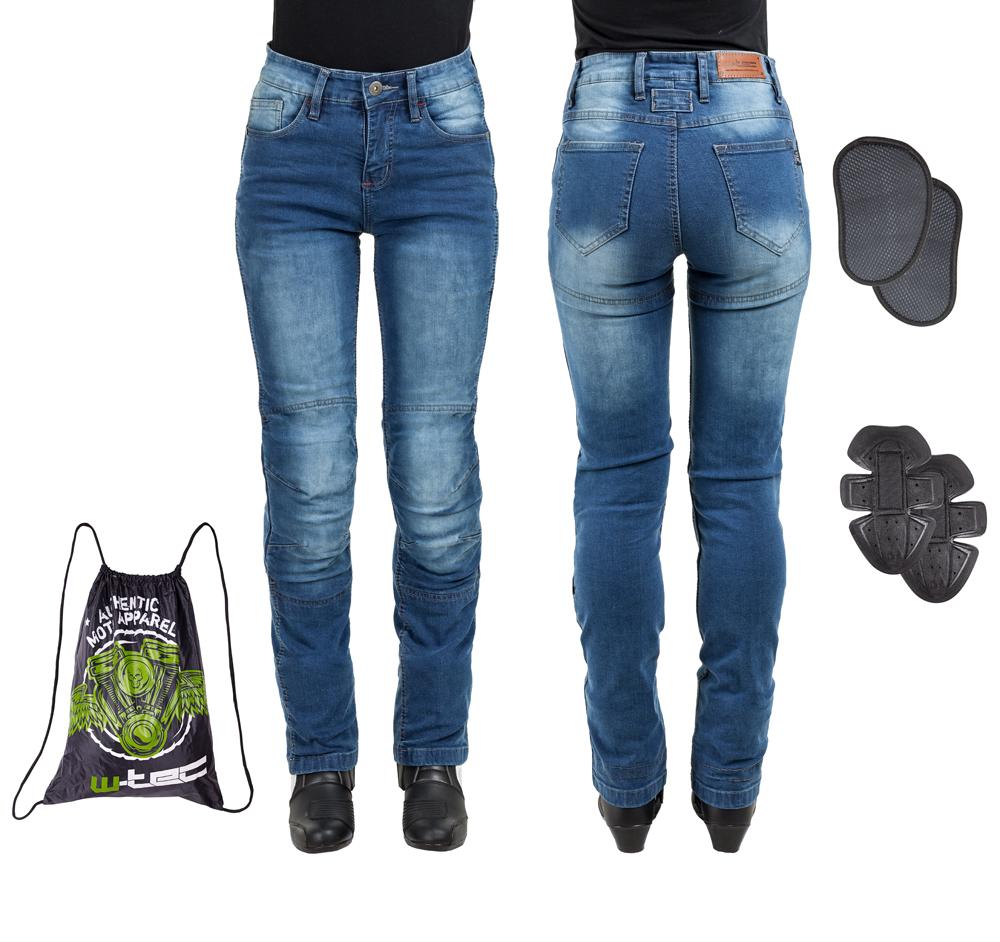 Dámske moto jeansy W-TEC Lustipa modrá - S