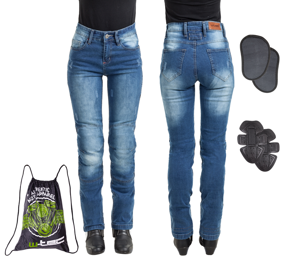 Dámske moto jeansy W-TEC Panimali modrá - S
