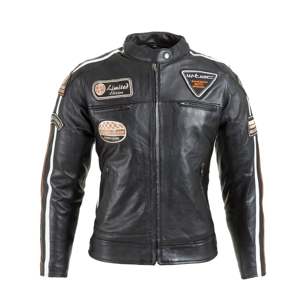 Dámska kožená moto bunda W-TEC Sheawen Lady čierna - S