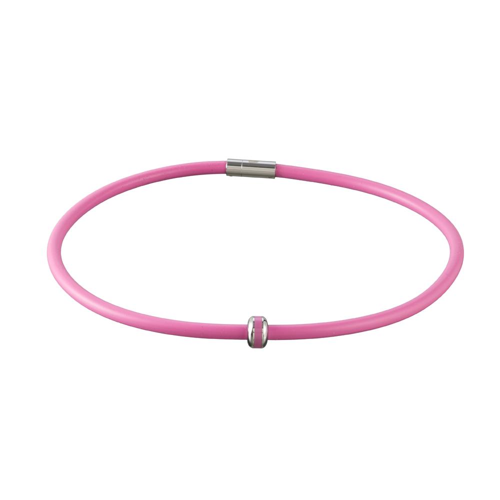 Magnetický náhrdelník inSPORTline Mely 45 cm - ružová