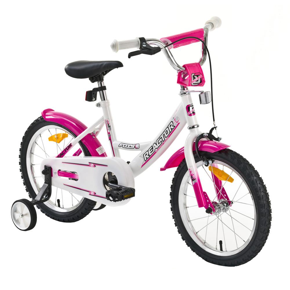 "Detský bicykel Reactor Foxy 16"" bielo-ružová"