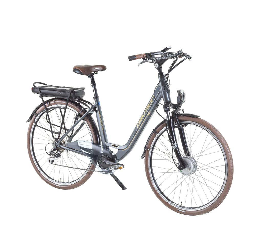 "Mestský elektrobicykel Devron 28126 - model 2015 Silver - 19"" - Záruka 10 rokov"