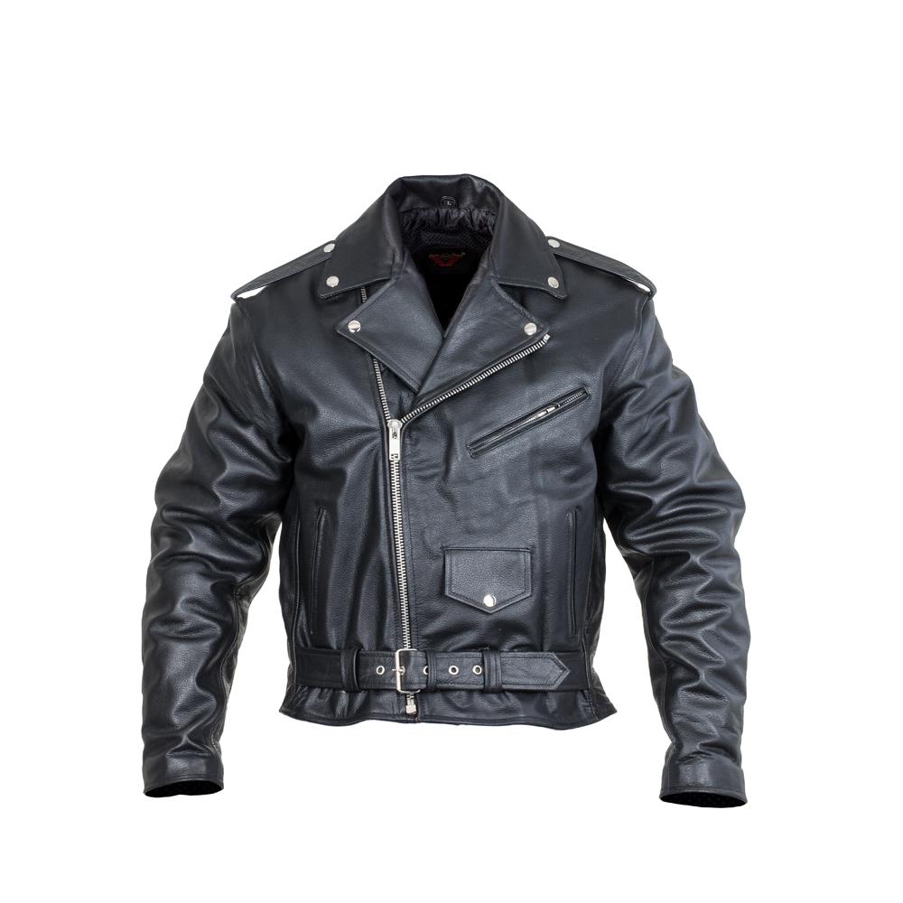 Kožená moto bunda Sodager Live To Ride Jacket čierna - 3XL